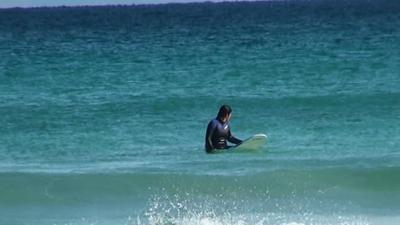 弓ヶ浜でロングボード始めました