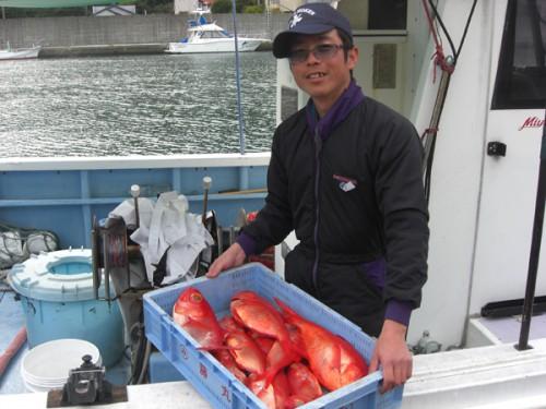 弓ヶ浜のジキンメ専門の漁師