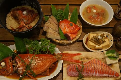 1kg地金目鯛のフルコース 9,720円