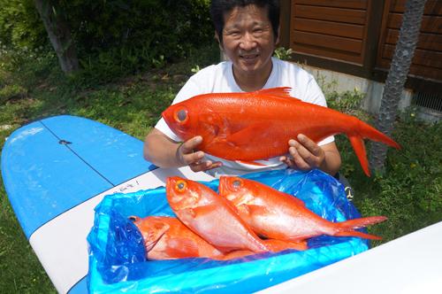 1kgオーバーのジキンメ(地金目鯛)は地元でも入手困難になってきています。