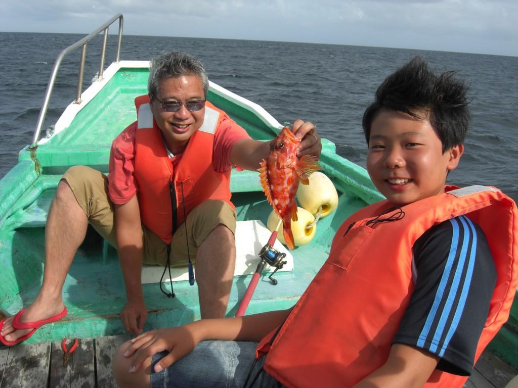 弓ヶ浜の家族貸切の船釣り、沖カサゴ、伊豆貸し別荘