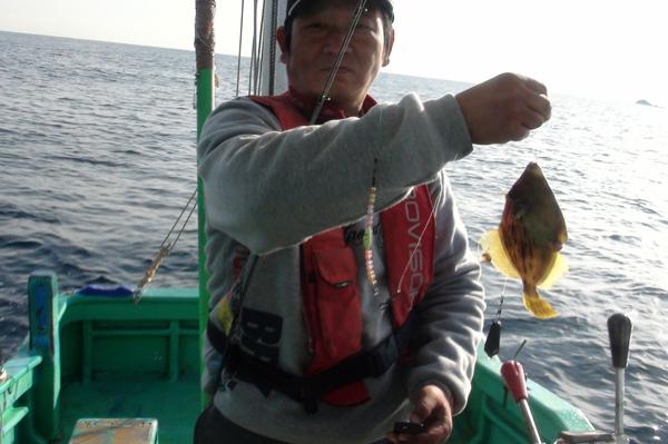 伊豆弓ヶ浜でカワハギ釣り