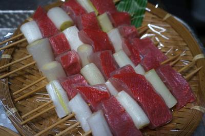 地金目鯛(ジキンメ)の串焼き