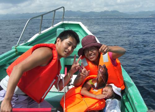 家族貸切だから自由に船釣りが楽しめます!