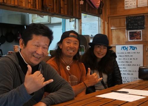 アウトリガーカヌーのレジェンド、Duek 金子さんが弓ヶ浜を訪れた