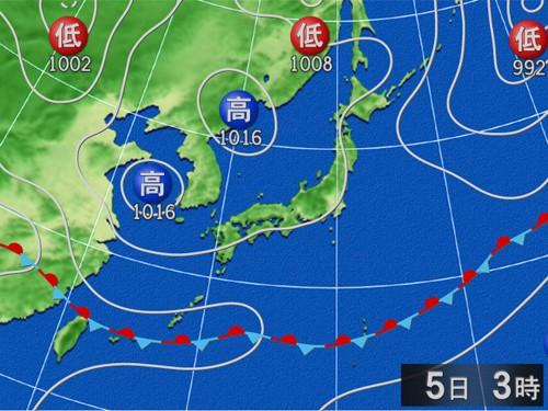 1週間前から天気図を観察して当日の天気図を正確に予測する