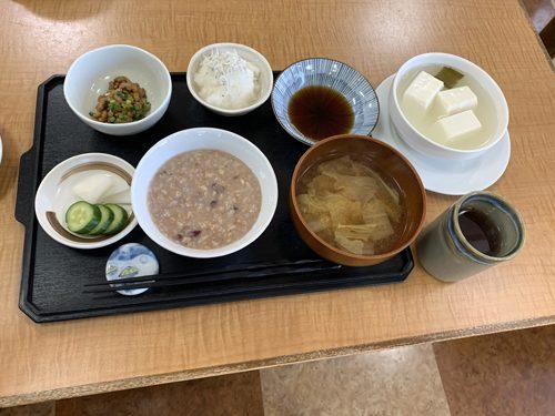 9日目のランチと夕食はおかゆ。最高にうまい!!!